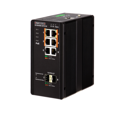 ECIS4500-4P2T2F INDUSTRIAL POE+ GIGABIT ETHERNET SWITCHES